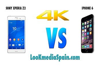 comparativa xperia z2 vs iphone 6 miniatura