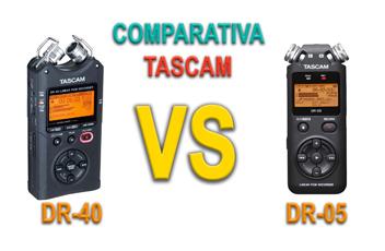 Comparativa Tascam DR-05 VS DR-40