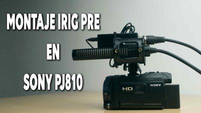 Como montar el Irig PRE en una cámara