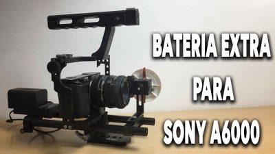 Batería extra para la Sony A6000