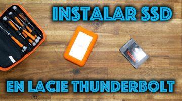 Instalar un SSD al Lacie Rugged Thunderbolt