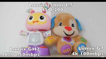 Lumix GH2 VS Lumix G7 comparando su imagen en video